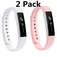 (2 Pack ) Small/ Large Band Size Replacement Wristband Band Strap for Fitbit Alta/ Alta HR Silicone Bands