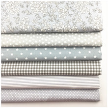 Syunss,New Gray Floral Printed Cotton Fabric DIY Tissue Patchwork Telas Sewing Baby Toy Bedding Quilting Tecido Tilda The Cloth