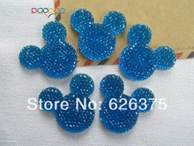 Rena!! Min.order $6 (mix order), Blue Mickey, Resin Flatback Flat Back  Cabochons for Hair Bow Center, DIY, Free Shipping