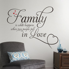 wall sticker Family people fall in love vinyl boys girls heart home decor wall art decals home decoration