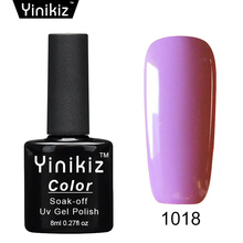 Yinikiz 8ml Gel Nail Polish UV LED Long Lasting Nail Lacquer Professional Fingernail Gel Varnish 25 Colors
