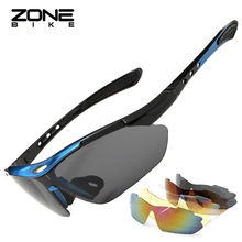ZONEBIKE Outdoor Uv400 Polarized Cycling Eyewear Bike Sunglasses For Men Sports Glasses Bicycle Goggle With Myopia Frame 5 Lens