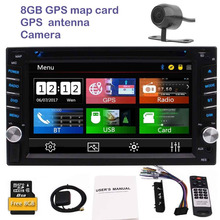 Rear camera+car dvd player 2 din autoradio 6.2'' gps car radio pc in dash main unit colors button backlight/3 types UI/Bluetooth(China)