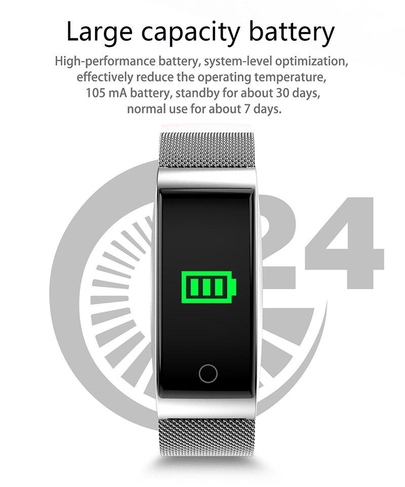 VERYFiTEK F4 Metal Smart Band Wristband Blood Pressure Heart Rate Monitor Men Women Fitness Watch Pedometer Smart Bracelet (22)