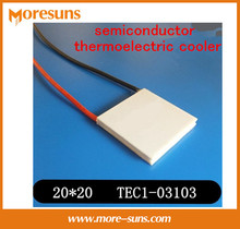 Fast Free shipping 5pcs/lot New small power semiconductor thermoelectric cooler TEC1-03103 20*20*4.1mm tec(China)