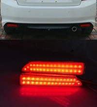 High quality For Honda city 2012 2013 2014 CRV 2007~2009 Reflector LED back Tail Rear Bumper Light Brake lamp fog light