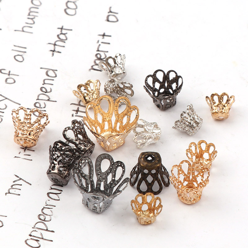 Wire Spacer Beads Hollow Metal Filigree Twist Charms Jewelry DIY Making Findings