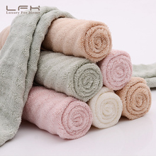 35X75cm 120g bamboo fiber thickening soft and simple skin absorbent adult wash towel can be customized logo embroidery