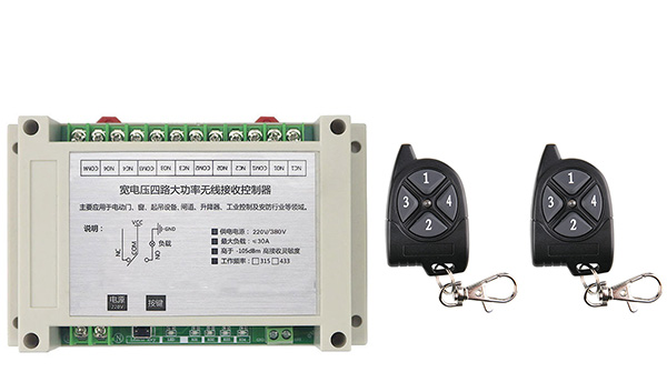 AC220V 250V 380V 30A 4CH RF Wireless Remote Control Relay Switch Security System Garage Doors Electric Doors<br>
