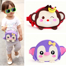2017 Child Kid Girls Boys Lovely Cartoon Monkey Penguin Waist Bags Handbag Messenger Shoulder Belt Bag Dib Candy Handbags