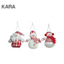 3Pcs/lot Christmas Tree Ornaments Santa Claus mini snowman 2016 Home Decor Merry Christmas Ornament Decoration Wholesalers
