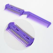 5pcs Hair Razor Comb Scissor Professional Home Thinning Trimmer Hairdressing 2017 Best Selling(China)