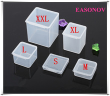 New PP material transparent plastic storage box original  parts in the product box small box  10pcs / lot free shipping!