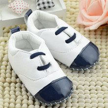 Baby Girls Boys Shoes PU First Walkers Infant Newborn Pre Walker Mix-color Lace-Up Baby Shoes(China)