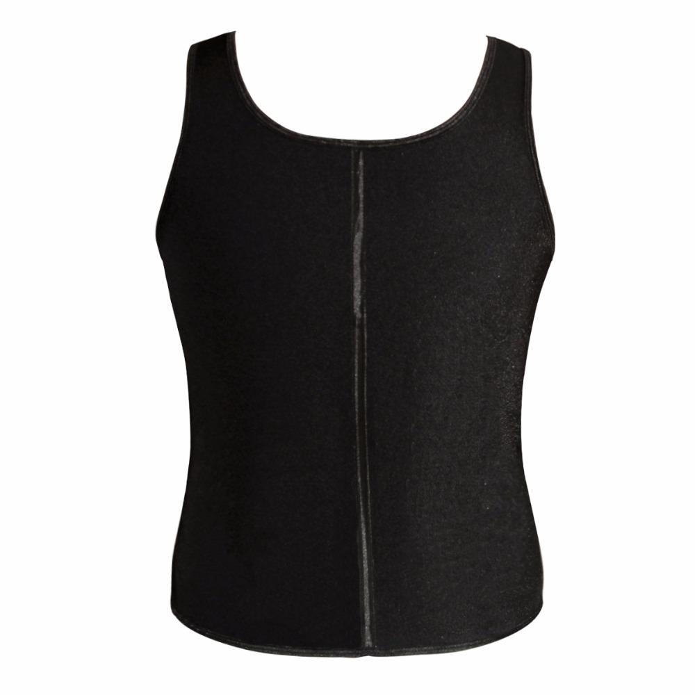 Latex Waist Cincher Men Rubber Bone Hot Fat Burning And Control Slimming Fit Vest Body Shaper Zipper Close Underwear Bustier 6XL (3)