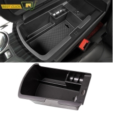 Car Central Armrest Storage Box For Peugeot 3008 Center Console Arm Rest Glove Tray Holder Case Pallet Container 2008-2015 2016(China)
