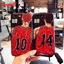 Slam Dunk 3D Relief phone Cases for iphone 7 7Plus Japan anime Silicon Case for iphone 8 6 6s 6plus 6splus phone back capa Funda(China)