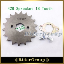 428 18 Tooth 20mm Front Engine Sprocket Gear For 50cc-160cc Chinese Dirt Pit Trail Motor Bike ATV Quad Lifan YX Engine(China)