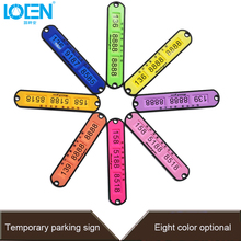 Multi-color Temporary Parking Sign Card Phone Number Card Plate Auto Sticker Accessories Card Plate Sticker Car Styling Accessor