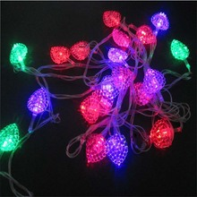 Lovely Christmas LED Holiday Lighting String 5m Heart Shape Lights Garland Curtain Chandelier For Wedding Party Bedroom Decor