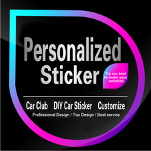 2016 Car Styling Custom Stickers Die Cut Personalized Vinyl Decal Bumper Sticker Muraux Customized Car Wrapping Sticker Maker