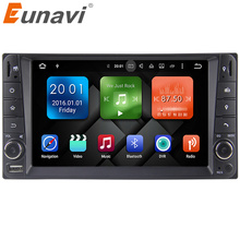 Eunavi 2 din Android 6.0 Quad Core 2G RAM car dvd player for Toyota Hilux VIOS Old Camry Prado RAV4 Prado 2003-2008 3G Network