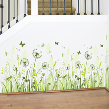 Dandelion baseboard sticker waterproof children classrooms removable mural wall stickers home decoration PVC kid decoration gift(China)