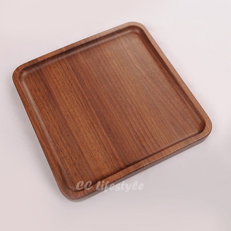 Wooden Tableware Black Walnut Cutlery Dishes Western dishes Coffee trays Dessert Tray Wholesale Custom Kitchen Tableware<br>