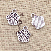99Cents 12pcs Charms bear paw 15*12mm Antique Making pendant fit,Vintage Tibetan Silver,DIY bracelet necklace