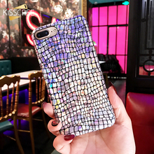 KISSCASE for iPhone 7 7 plus Case for iPhone 6 6s plus Bling Luxury Case Crocodile Snake Print Laser Phone Cases Back Cover Capa