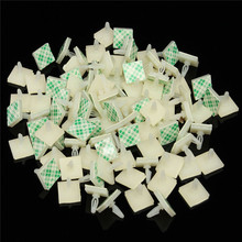 100 PCS HC-5 Nylon Plastic Stick On PCB Spacer Standoff 3mm Hole support Locking Snap-In Posts Fixed Clips  Adhesive Fish