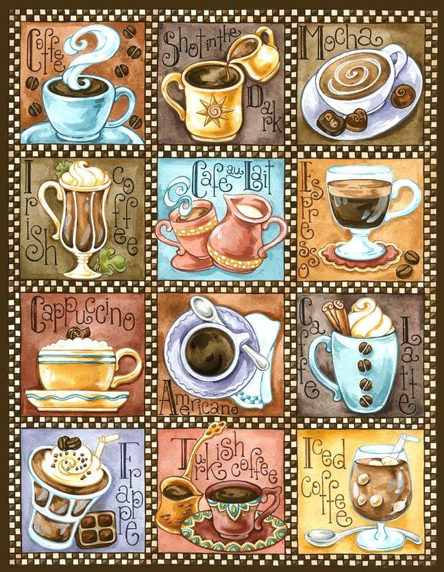 Алмазная вышивка кофейная тема 2