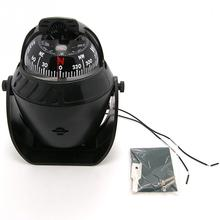 14X11cm Black ABS Macromolecule Plastic LED Light Digital Compass Magnetic Sphere Marine Military Electronic Boat Car Compass(China)