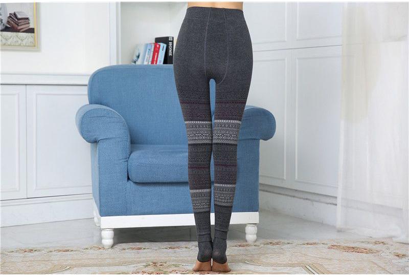 Winter Leggings, Women's High Waist Warm Leggings 6