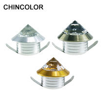 CHINCOLOR Mini Spot Light Crystal Diamond Cabinet Downlights LED Ceiling Lamp 110V 220V Jewelry Display Room Decor Warm white R
