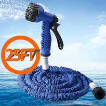 Top Sale 7 in 1 Spray Gun 25-200FT Expandable Garden Hose Latex Tube Magic Flexible Hose For Garden Car Plastic Hoses 3 Colors(China)