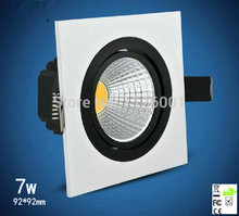 2015 Direct Selling Led Lamp Free Shipping 2pcs/lot 92*92mm Led Downlight With 600 To 700lm Luminous Flux, Ce, And Tuv Marks