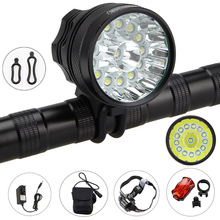 Waterproof 14x XM-L T6 Light 30000 Lumens Front Bike Cycling Lights Aluminum Headlight Set Bike Accessories(China)