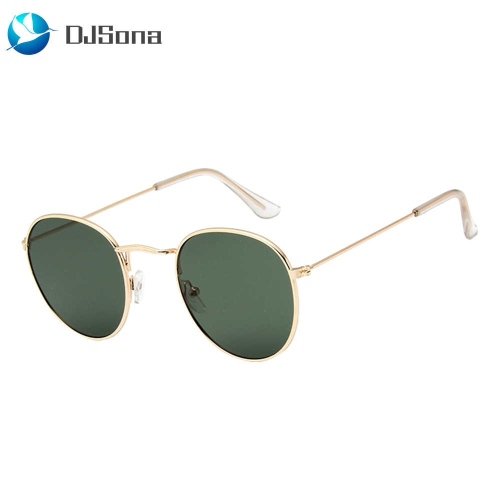 DJSona NEWEST 100% Polarizd Sunglasses Women/Men Brand Designer Round Glasses Lady Mirror Sun Glasses Drive Oculos De Sol Gafas