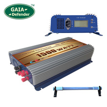 1500W LCD display Wind Power Grid Tie Inverter with Dump Load Controller Resistor for 3 Phase wind turbine(China)