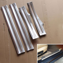 Stainless Car Inner Door Sill Scuff Plate Cover Guards Protector Sticker 4pcs Fit For BMW X1 2012-2015 Car Styling Accessories