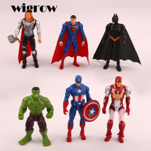 6 pcs Hero model toys set Creative dolls Cool Fashion boys and girls dolls Mini ornaments toys Classic collection of toys