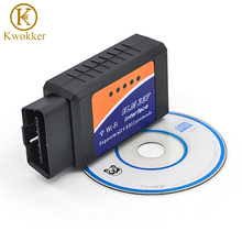 KWOKKER ELM327 V2.1 OBD2 CAN-BUS WIFI ELM 327 Auto Dianostic Tool Interface Scanner OBD2 Protocols For iphone/ipad/ipod WIFI(China)