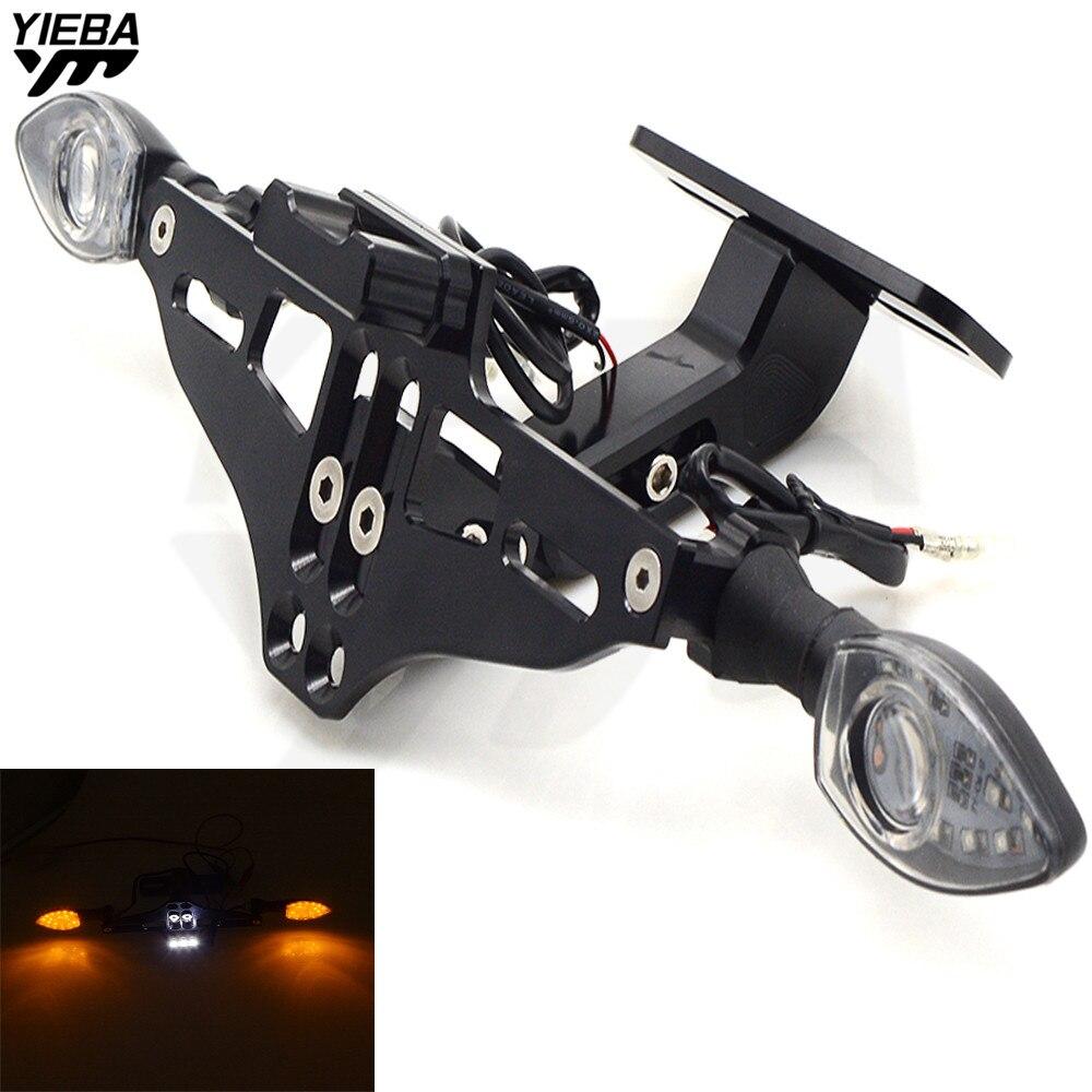 Motorcycle Bracket Licence Plate Holder With Turn Light FOR YAMAHA XJR400 XJR1200 XJR1300 XJ600 XJ6 MT07 MT09 XT660/X/R/Z V-MAX