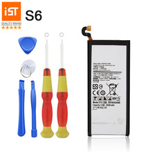 2017 New 100% IST Original Mobile Phone Battery For Samsung Galaxy S6 G920 G9200 G920F G920i G920A Replacement Battery With Gift