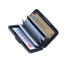 New Hot Sale Mini Pocket Card Storage Box Business ID Name Credit Card Wallet Holder Aluminum Metal Case Box Waterproof BS