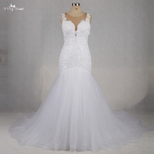 Buy RSW1191 Sleeveless Illusion Back Sexy Backless Wedding Dresses 2016 Mermaid Applique Laces for $318.00 in AliExpress store