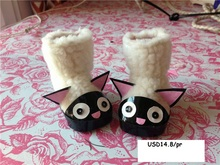 "[DY030]2016 New 16"" Disyne Doll Shoes # White Cat Boots for 16 inch Disyne girl doll accessories for retail doll shoes"