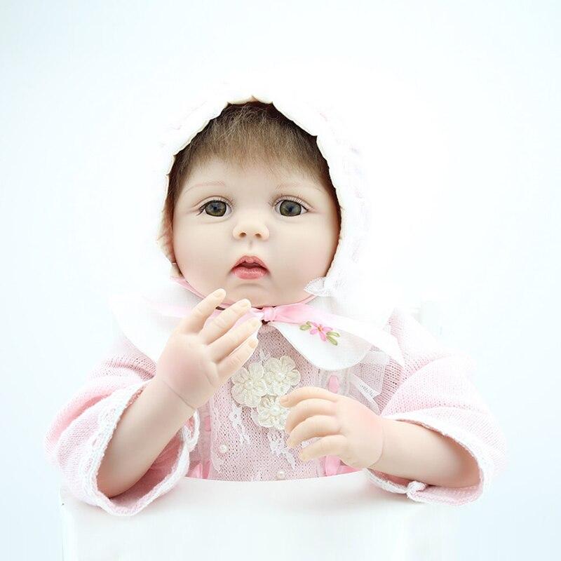 2015 Fashion Handmade Reborn Baby Doll Soft Silicone Boneca Lifelike Realistic 50-55cm Cute Reborn Baby By NPK Dolls<br><br>Aliexpress