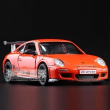 High Simulation Exquisite Diecasts&Toy Vehicles: KiNSMART Car Styling 911GT3 RS Sports Car 1:36 Alloy Diecast Model Toy Car(China)